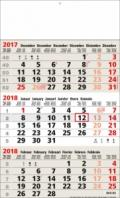 Calendriers 3 Mois - 3 Mois Business beige