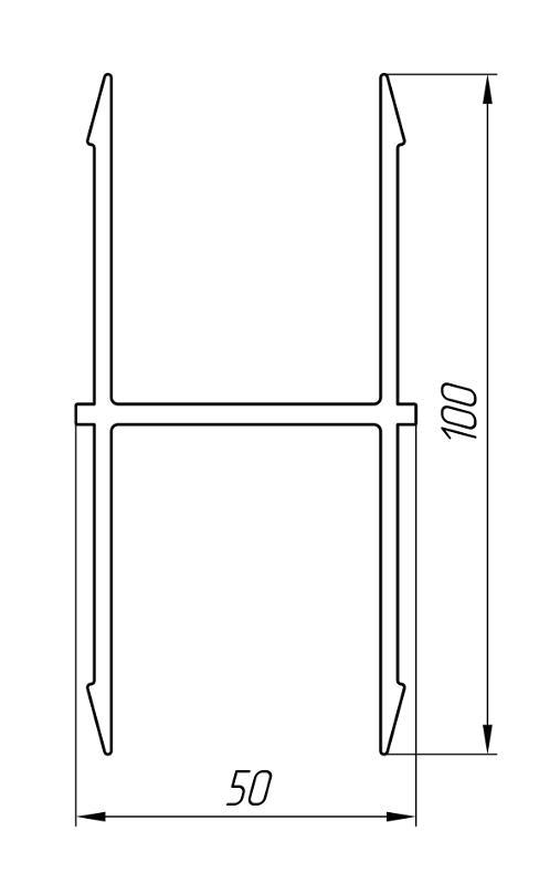 Aluminum Profile For Ventilated Facades Ат-3047 - Construction aluminum profile