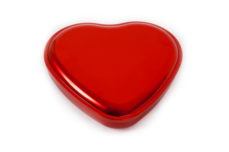 Heart Tin Red - null