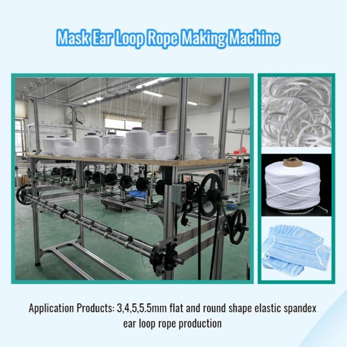 Elastic Spandex Rope Knitting Machine - We supply MASK Elastic Spandex Rope Knitting Machine