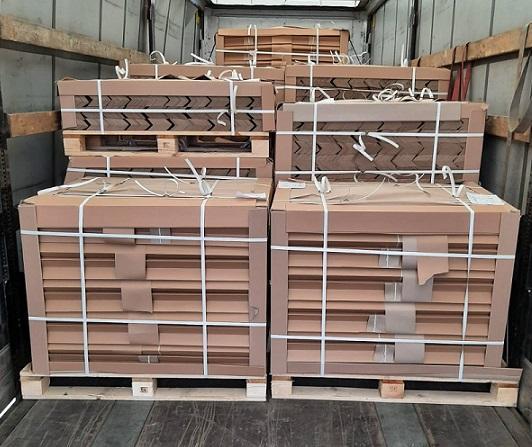 уголок картонный, упаковка уголков картонных - бурый и белый уголки