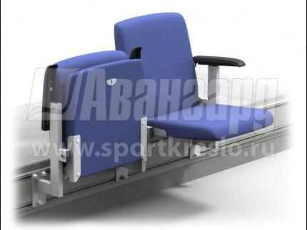 Semi upholstered tip-up stadium chair