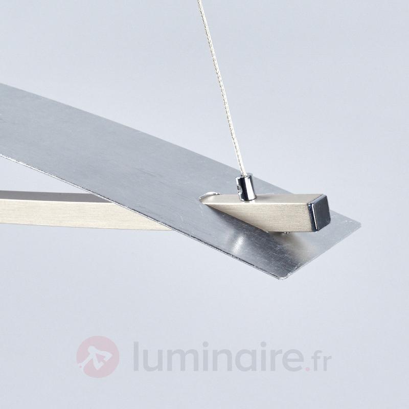 Joka - suspension LED hauteur réglable argenté - Suspensions LED