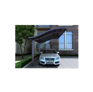 Single carport canopy in Poland - Cutomized carport garage with polycarbonate sheet aluminum frame in China