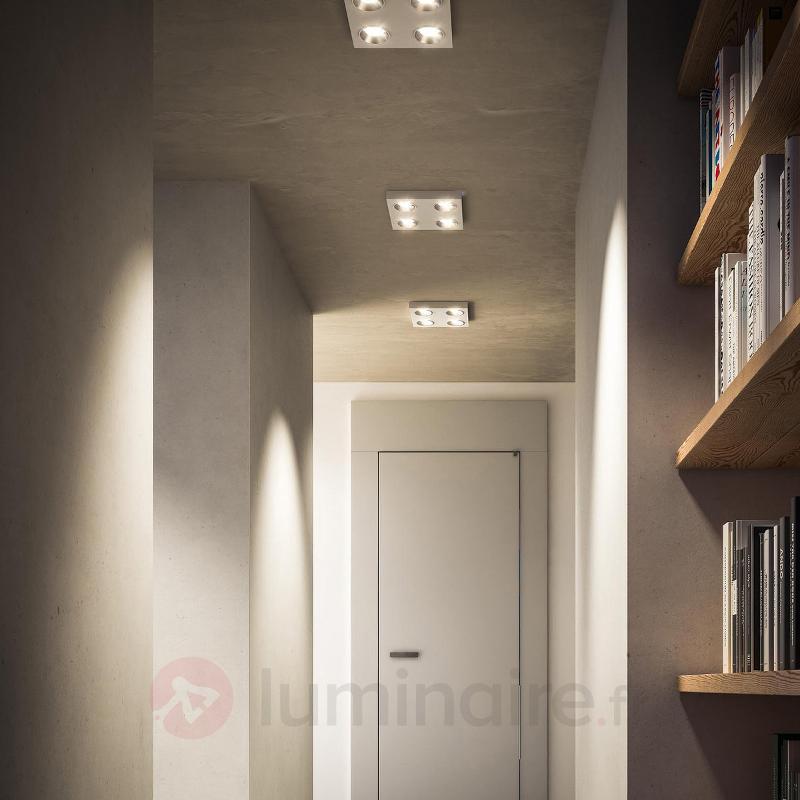 Plafonnier LED carré Quine, blanc - Plafonniers LED