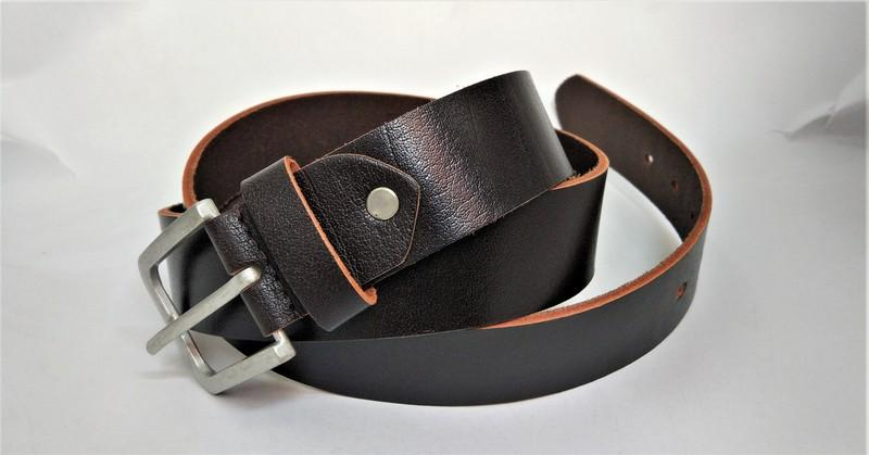 Full grain brown jeans belt  - Full grain casual jeans belt from india
