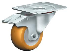 SWIVEL CASTOR WITH TOTAL LOCK - Heavy Duty Castors