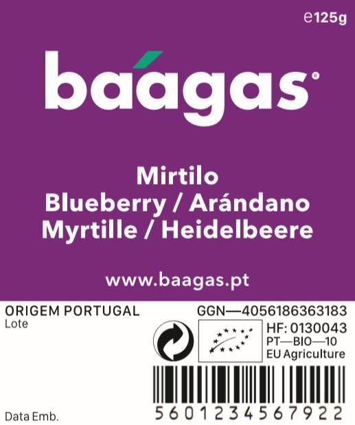 Organic blueberries/Mirtilo biológico - baagas