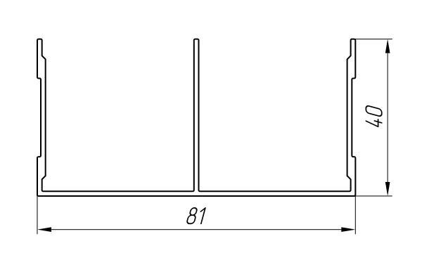 Aluminum Profile For Wardrobes Ат-2711 - Aluminum profile for wardrobes