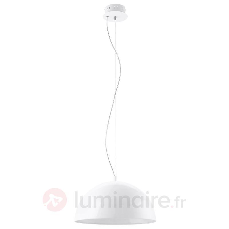 Suspension LED blanche Gaetano 38 cm - Suspensions LED