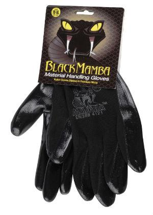 Gants Black Mamba en nylon & nitrile