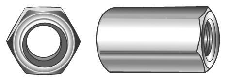 Sechskantmuttern (Langmuttern), Höhe m = 3 d - Material A2 | A4