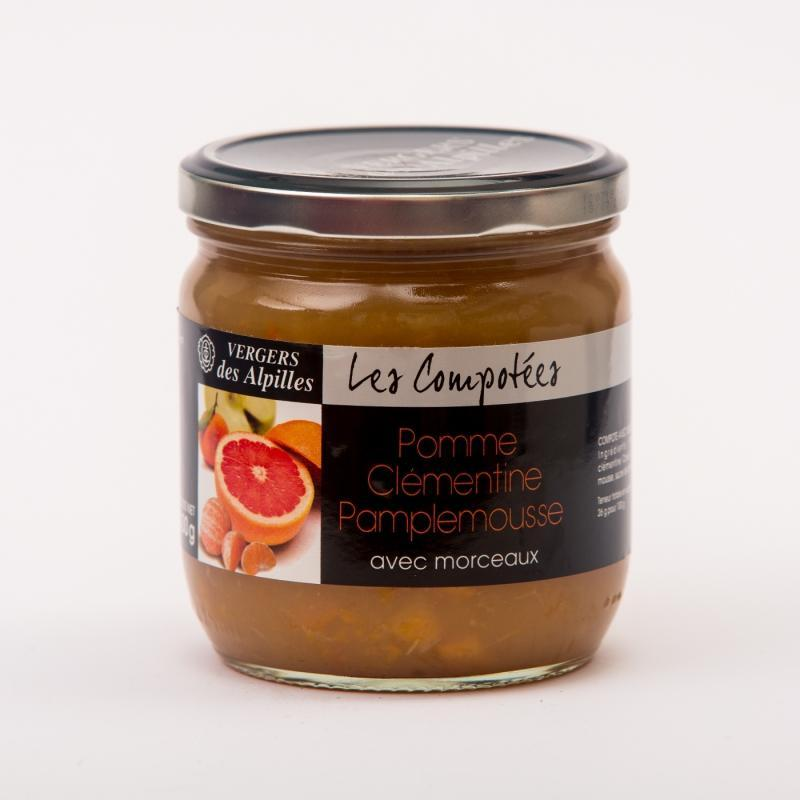 Les Compotées - Pomme / Clémentine / Pamplemousse - Compotes de fruits PREMIUM avec morceaux