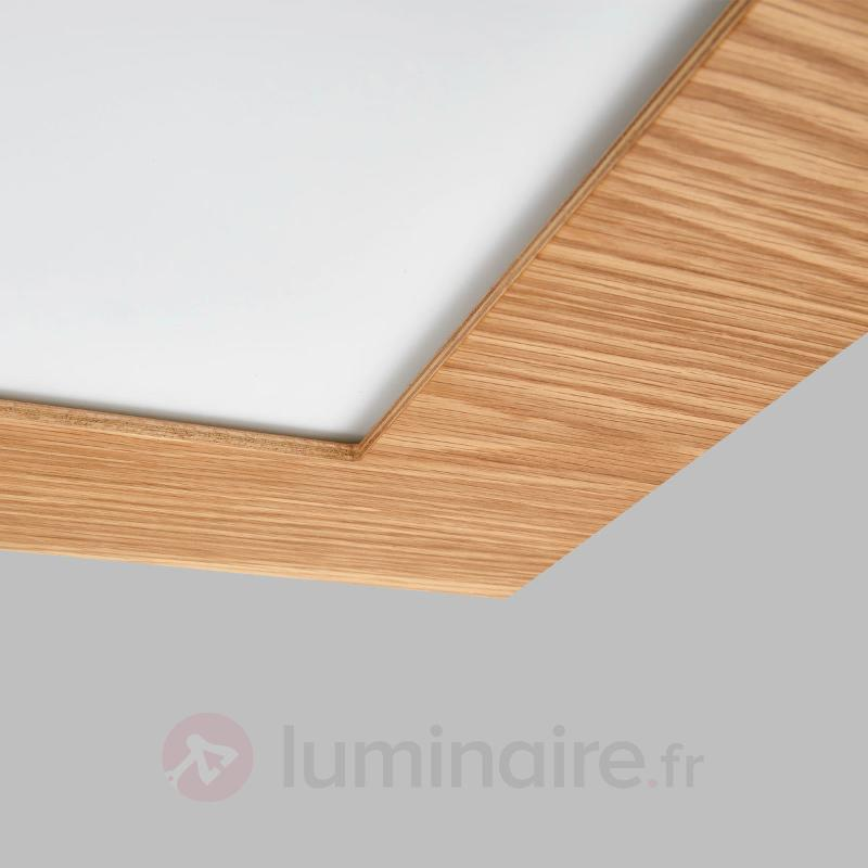 panneau led naturel deno en bois plafonniers led luminaire fr allemagne. Black Bedroom Furniture Sets. Home Design Ideas