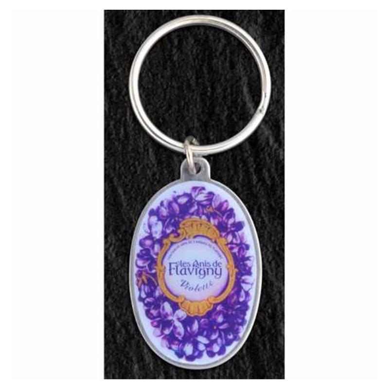 Porte-clés métal quadri éco - Porte-clés métal