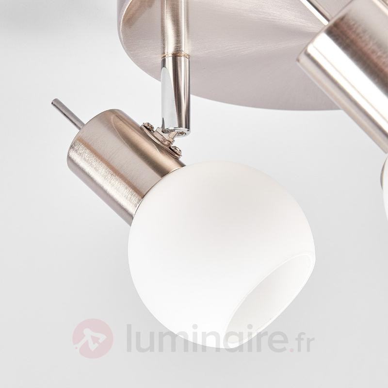 Beau plafonnier rond LED Laurence, à trois lampes - Spots et projecteurs LED