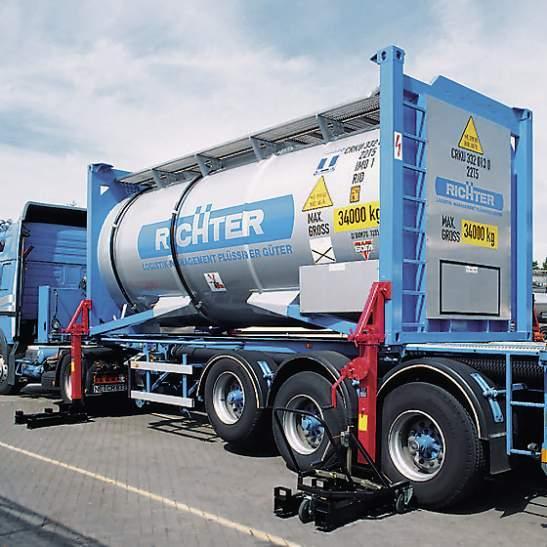 Dispositivo di deposito di container 32 t - Dispositivo di deposito di container 32 t sospensione pneumatica & a balestra