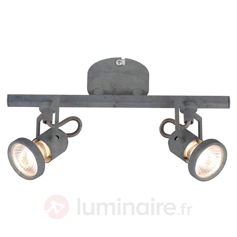 Plafonnier LED Concreto à deux lampes - Spots et projecteurs LED