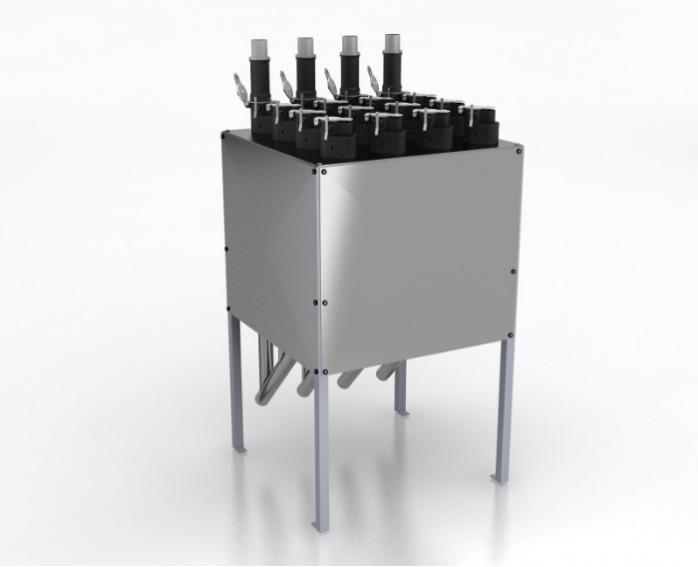 Estação de acoplamento manual de materiais - METROCONNECT - Mesas de acoplamento operadas manualmente com tecnologia RFID opcional
