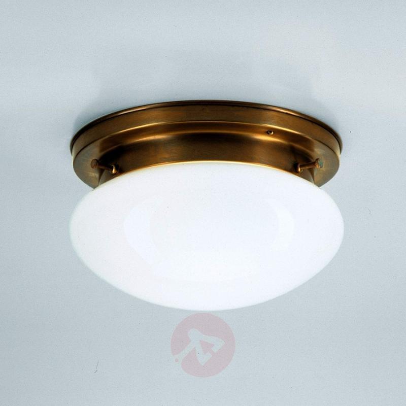HARRY opal ceiling light with brass - design-hotel-lighting
