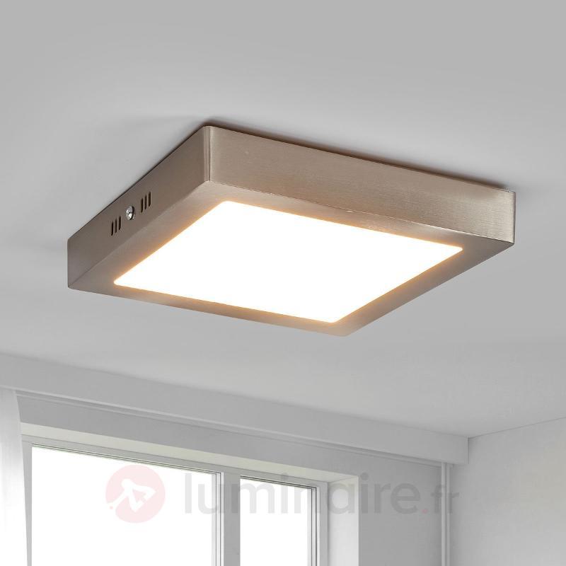 Plafonnier LED Zeus à usage polyvalent - Plafonniers chromés/nickel/inox