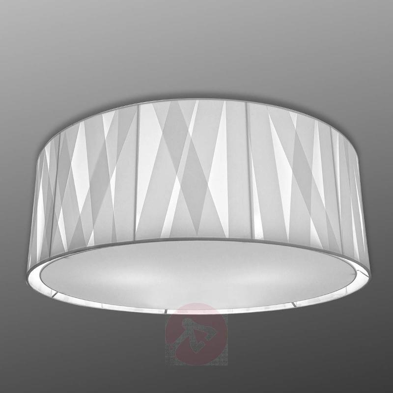 100 cm - fabric ceiling light Cross Lines C100 - Ceiling Lights