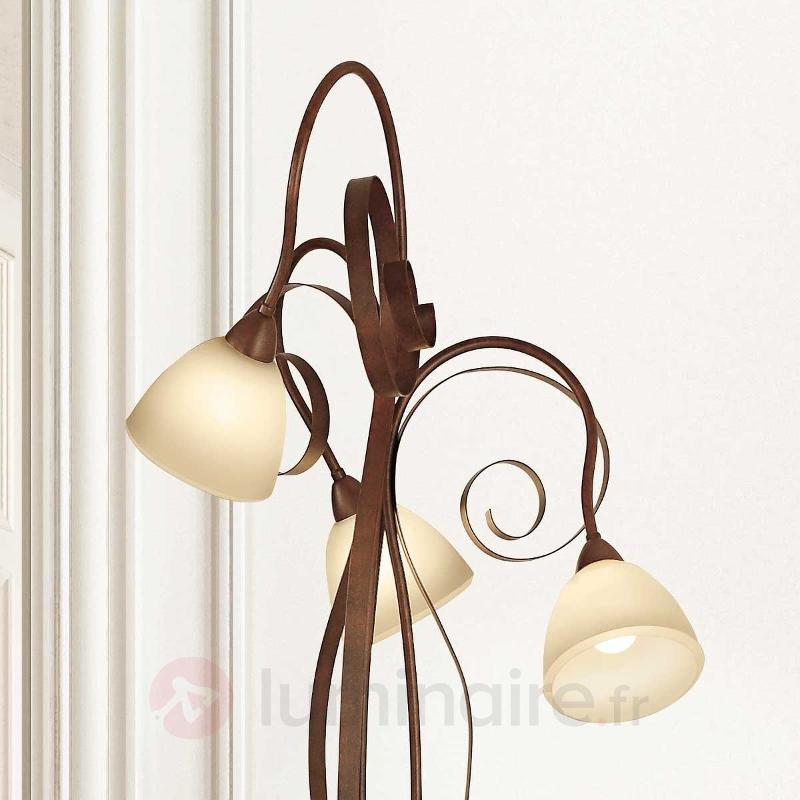Lampadaire Francesco à 3 lampes - Lampadaires rustiques