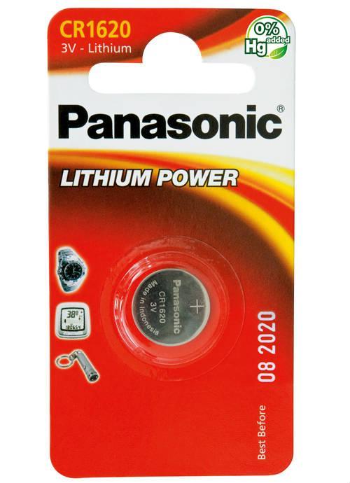 Batterie al litio a bottone CR1620 - CR-1620L/1BP | Blister da 1 microbatteria specialistica Panasonic