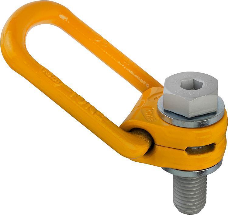 Anneau de levage articulé 360 degrés Classe de résistance 10 - Anneaux de levage fixes et pivotants, anneaux à broche autobloquante