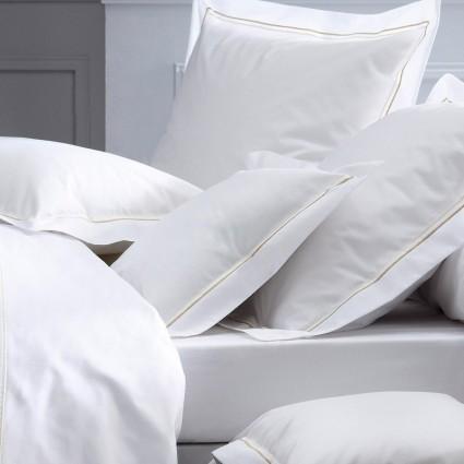 Linge de lit : draps, taies, alèses - Linge de lit blanc Percale OPÉRA