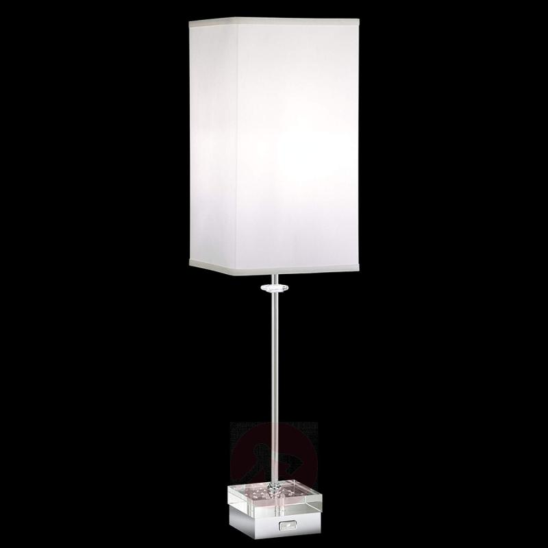 Table lamp Brillet with crystals and touch dimmer - design-hotel-lighting