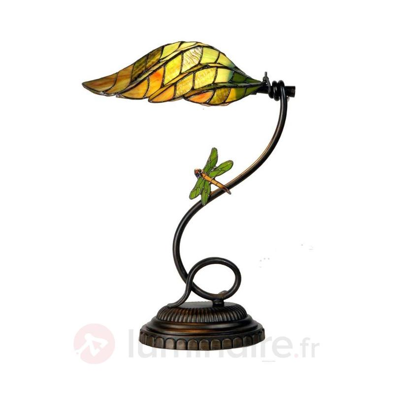 Lampe à poser Leaf style Tiffany - Lampes à poser style Tiffany