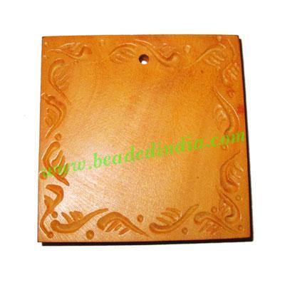Handmade wooden fancy pendants, size : 51x6mm - Handmade wooden fancy pendants, size : 51x6mm