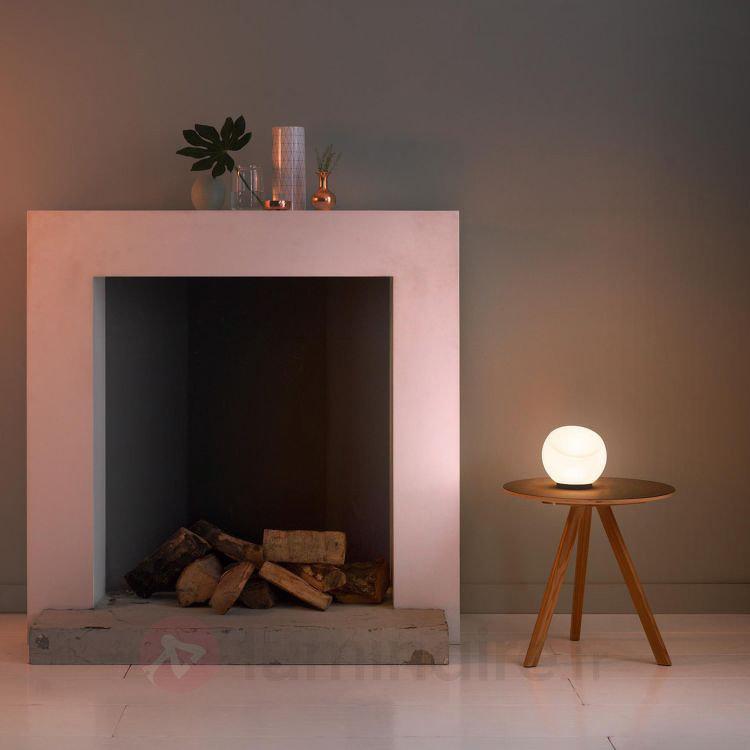 Lampe à poser Melgund avec LED, verre - Lampes à poser LED
