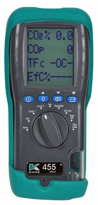 Analyseur le plus complet équipé d'une cellule CO 10.000 ppm - KANE455plus