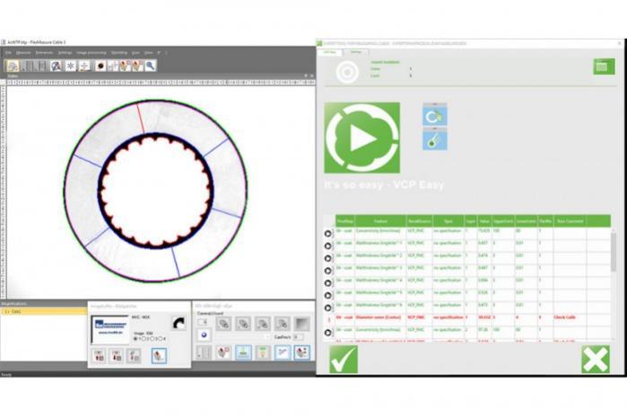 Kabelmesssoftware VCPEasy - VCPEasy - einfache Bediensoftware für die Selbstprüfung in der Kabelproduktion