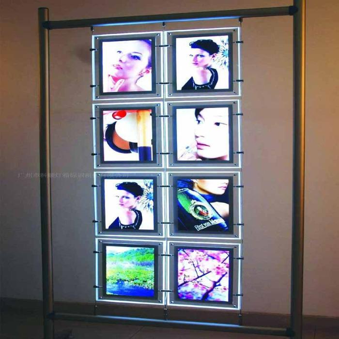 LED SCHAUFENSTER DISPLAY MULTI KIT - Wand befestigte LED Immobilienmakler Display