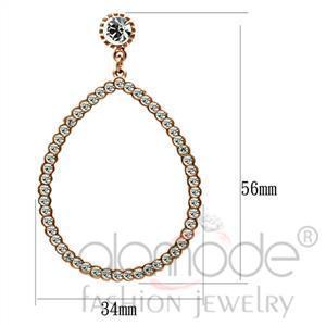 Fashion Earrings - Rose Gold Top Grade Crystal Earrings