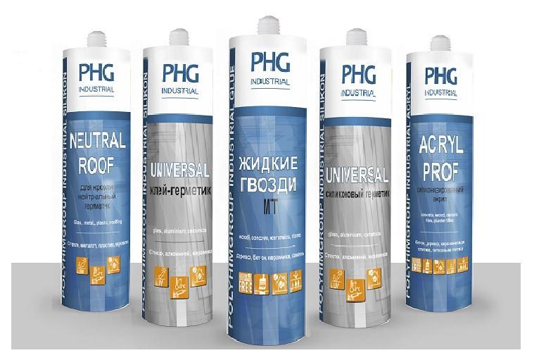 Герметики PHG Industrial ПолиХимГруп - Линейка высококачественных силиконовых, акриловых герметиков и клеев