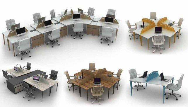 Office workstations partitions and office cubicles - More than 4-seaters workstations partitions