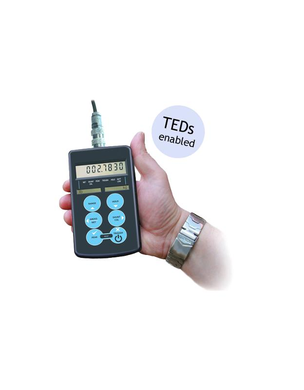 HAND-HELD DISPLAYS FOR STRAIN-GAUGE-BASED TRANSDUCERS - Reference force transducers