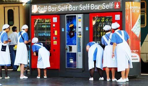 máquinas de vending - maquinas de venda automáutica de comidas e bebidas