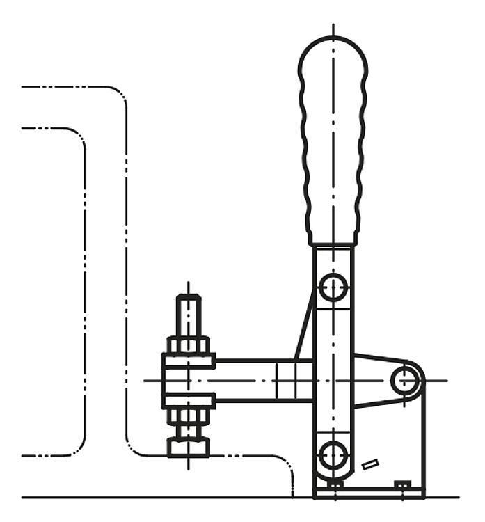 Sauterelle à levier vertical à embase horizontale - Sauterelles