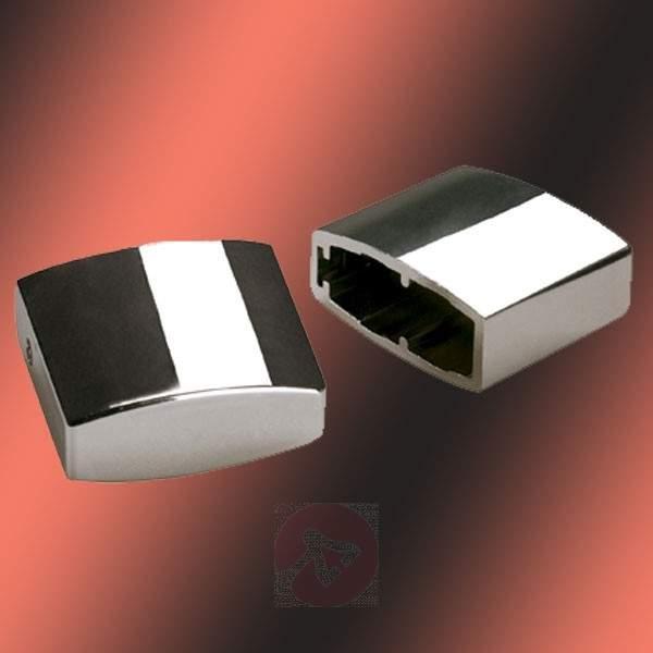 End Caps for HV Track Light - Easytec II Chrome-Black