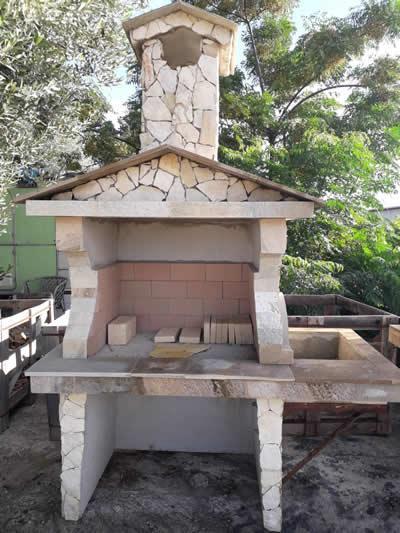 Barbecue rivestito in pietra calcarea di trani - prezzo iva esclusa 819,68 euro