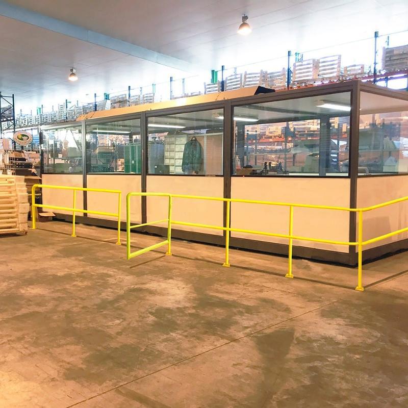Poteau de départ - Kit barrière modulaire d'industrie - Entrepôt, stockage et manutention