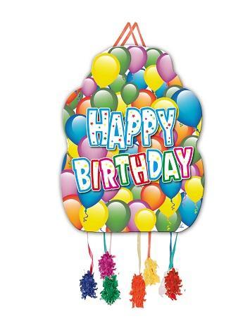 Piñata Happy Birthday - Pack de 6 uds