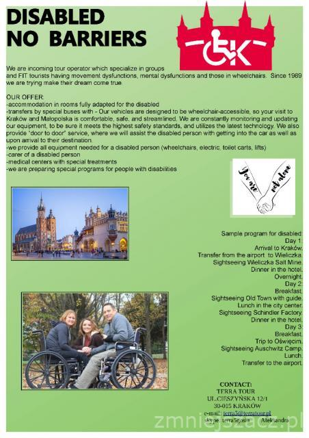 Travel for Disabled - Disable - no barriers - make your dream trip come true