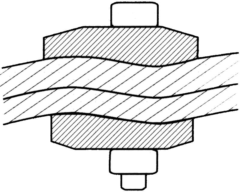Cosses et serre-câbles - Serre-câble galvanisé IRON GRIP - type BG