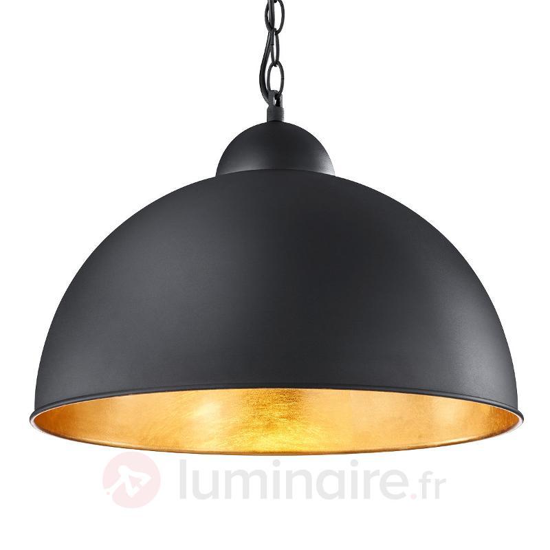 Suspension LED Romino noire-dorée - Suspensions LED